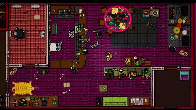 """Das Bild zeigt eine Szene aus dem Spiel """"Hotline Miami Collection""""."""