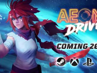 """Das Bild zeigt das Logo des Spieles """"Aeon Drive""""."""