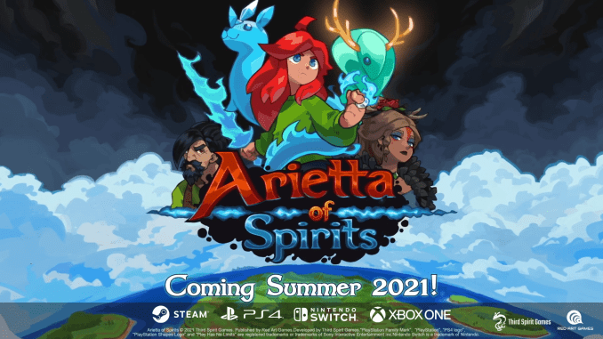 """Das Bild zeigt das Logo des Spieles """"Arietta of Spirits""""."""