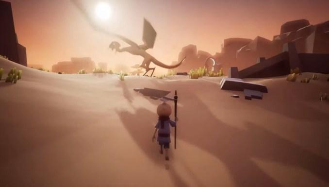 """Das Bild zeigt eine atmosphärische Szene in """"Omno""""."""
