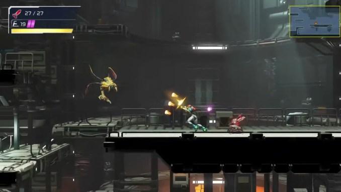 """Das Bild zeigt einen Ausschnitt aus """"Metroid Dread""""."""