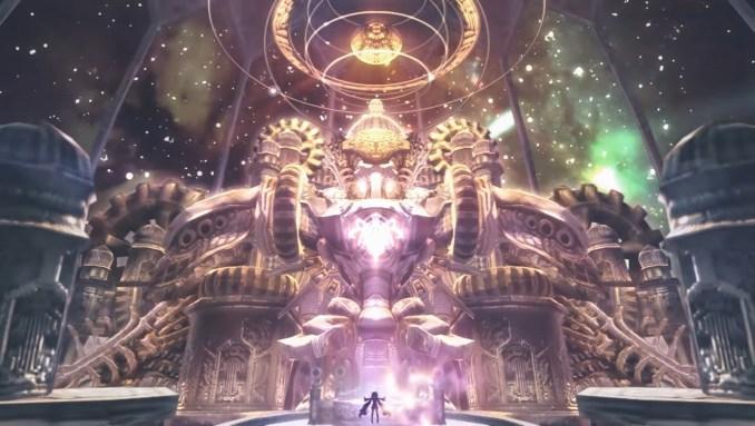 """Das Bild zeigt ein riesiges Bauwerk in """"The Legend of Nayuta: Boundless Trails""""."""
