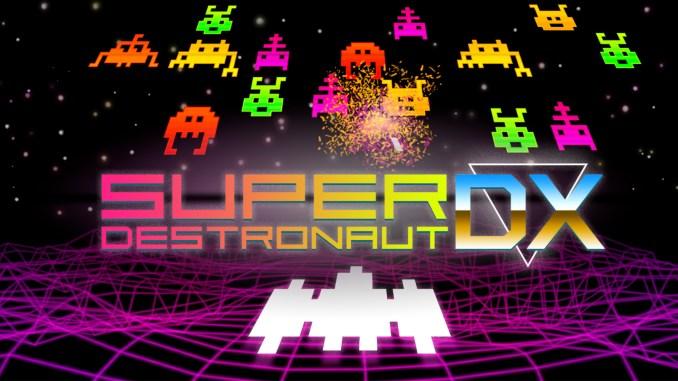 """Das Bild zeigt das Logo des Spieles """"Super Destronaut DX-2""""."""