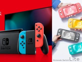 Das Bild zeigt die Nintendo Switch Konsole