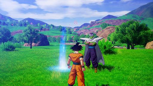 """Das Bild zeigt Son Goku und Piccolo in """"Dragon Ball Z: Kakarot""""."""