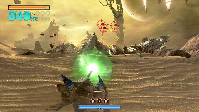 """Das Bild zeigt einen Panzer in """"Star Fox Zero""""."""