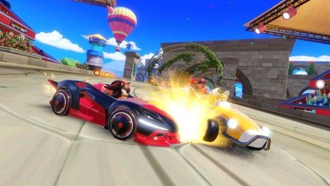 Auf dem Bild sieht man das Gameplay aus dem Spiel Team Sonic Racing.