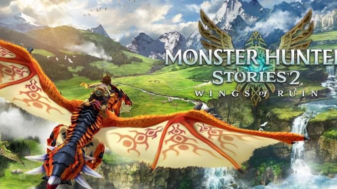 Das Bild zeit das Titelbild aus dem Spiel Monster Hunter Stories 2: Wings of Ruin