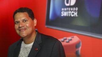 Auf dem Bild sieht man Reggie Fils-Aime, den ehemaligen Präsidenten von Nintendo America