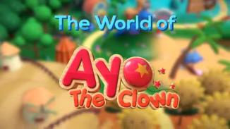 """Das Bild zeigt das Logo des Spieles """"Ayo the Clown""""."""