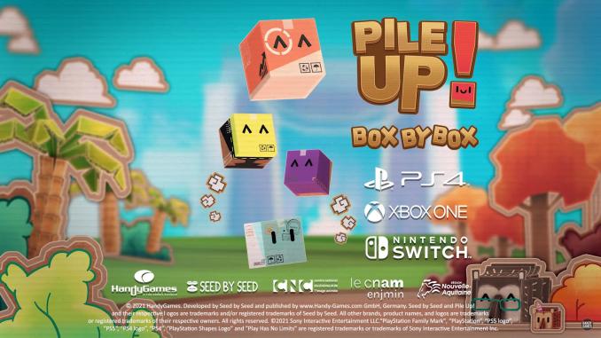 """Das Bild zeigt das Logo von """"Pile Up! Box by Box""""."""