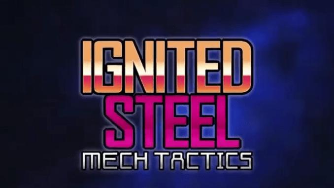 """Das BIl dzeigt das Logo des Spieles """"Ignited Steel""""."""