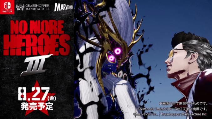 """Das Bild zeigt das Logo von """"No More Heroes 3""""."""
