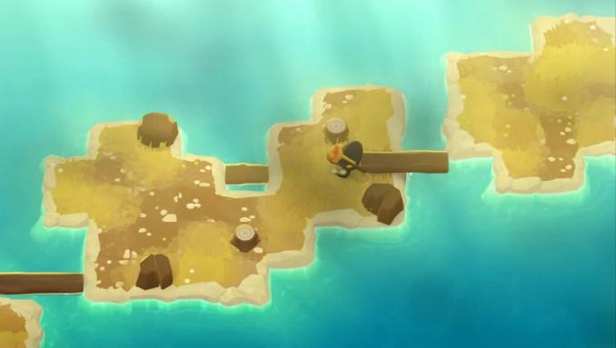 """Das Bild zeigt mehrere Inseln in """"A Monster's Expedition""""."""