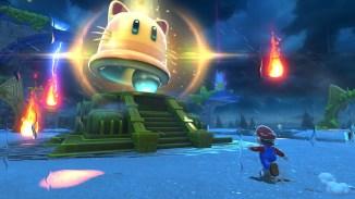 """Das Bild zeigt eine Szene aus dem Spiel """"Super Mario 3D World + Bowser's Fury""""."""