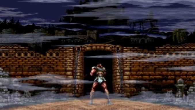 Das Bild zeigt den Protagonisten vor Castlevania in Super Castlevania.