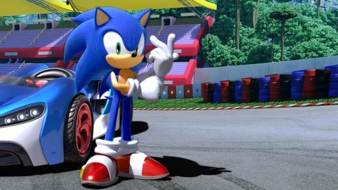 Auf dem Bild sieht man das Maskottchen von SEGA. Sein Name ist Sonic