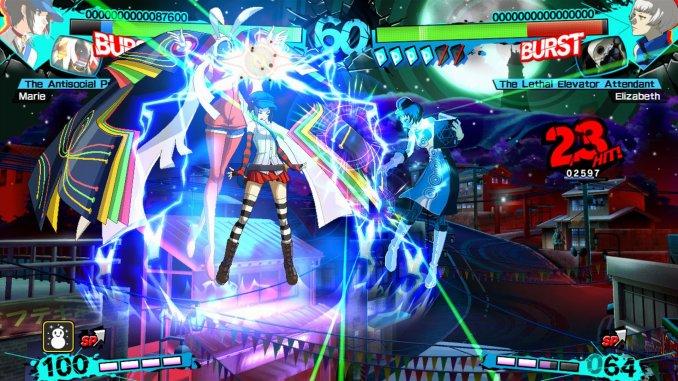 """Das Bild zeigt einen Kampf in """"Persona 4 Arena Ultimax""""."""
