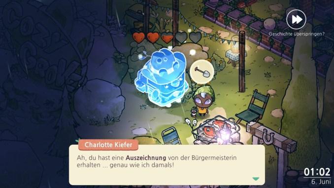 """Das Bild zeigt eine Szene aus dem Spiel """"Cozy Grove""""."""