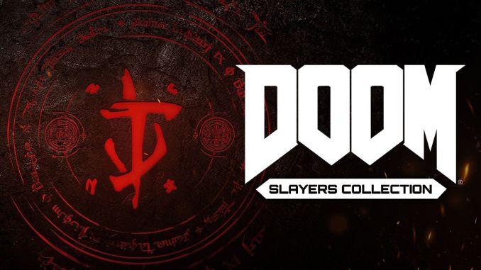 """Das Bild zeigt das Logo der """"DOOM Slayers Collection""""."""