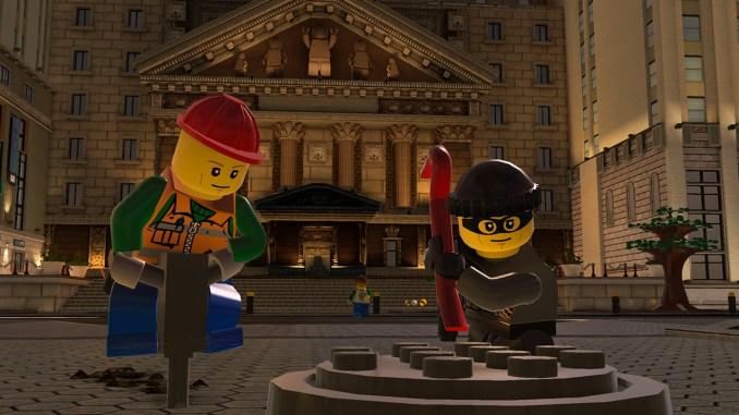 """Das Bild zeigt eine Szene aus dem Spiel """"LEGO City Undercover""""."""
