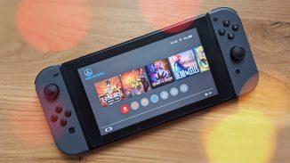 Das Bild zeigt die Nintendo Switch, das wohl beliebteste Model von Nintendo.