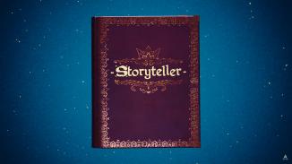 """Das Bild zeigt das Logo von """"Storyteller""""."""