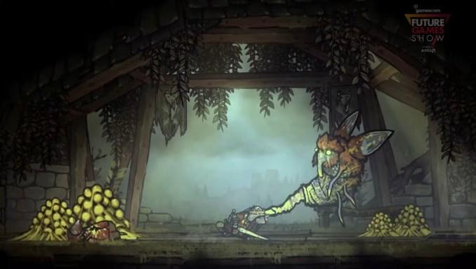 """Das Bild zeigt einen Kampf in """"Tails of Iron""""."""