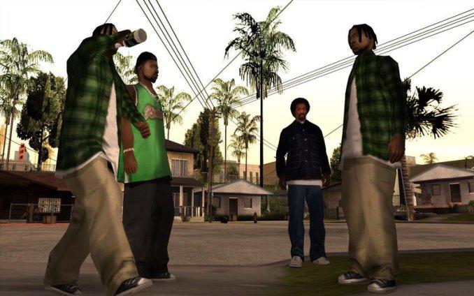 """Das Bild zeigt eine Szene aus """"GTA: San Andreas"""", welche zur """"GTA Remastered Trilogy"""" gehören soll."""