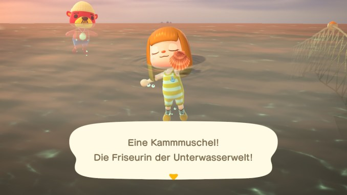 """Das Bild zeigt eine Kammmuschel – ein Tierchen in """"Animal Crossing"""", welches jederzeit fangbar ist."""