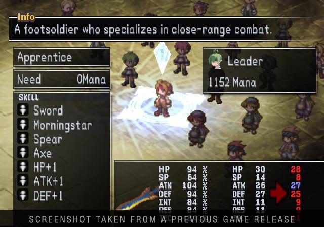 """Das Bild zeigt einen mit Stats und Fähigkeiten versehenen Bildschirm in """"Makai Kingdom: Reclaimed and Rebound"""", welches in der """"Prinny Presents NIS Classics Volume 2"""" enthalten ist."""