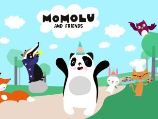 """Das Bild zeigt das Logo und die Protagonisten von """"Momolu and Friends""""."""
