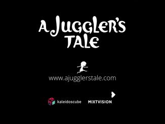 """Das Bild zeigt das Logo von """"A Juggler's Tale""""."""