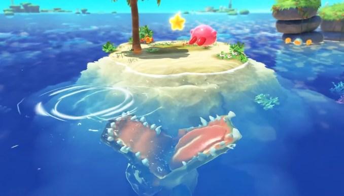 """Das Bild zeigt eine Szene aus """"Kirby und das vergessene Land""""."""