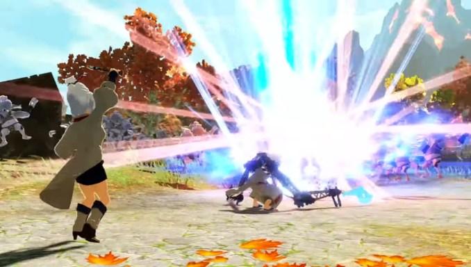 """Das Bild zeigt die neuen Charaktere im Kampf gegen eine Gegnerhorde in """"Hyrule Warriors: Zeit der Verheerung""""."""