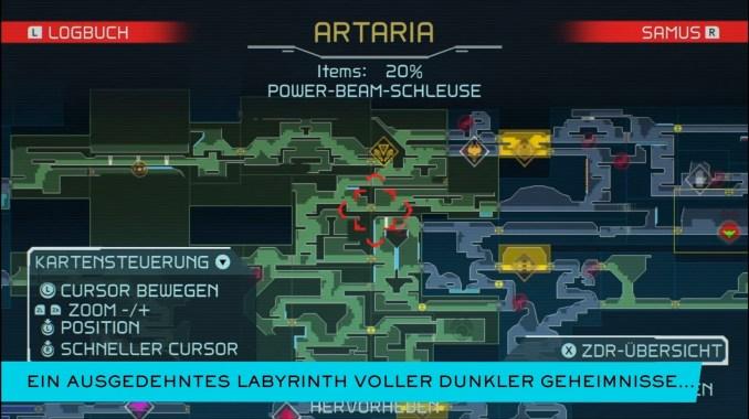 """Das Bild zeigt die Map von """"Metroid Dread""""."""