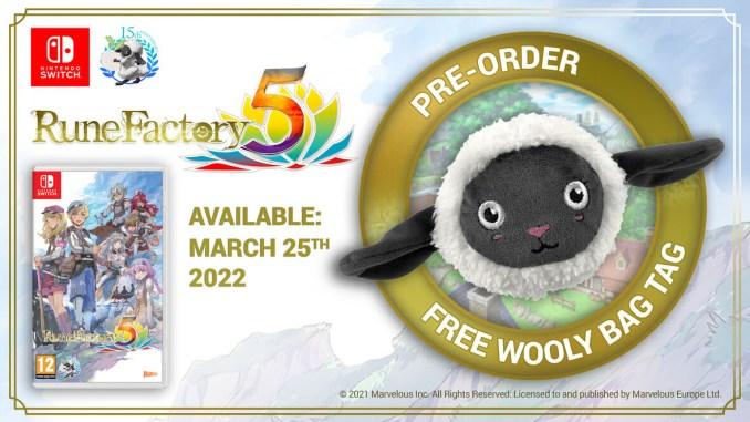 """Das Bild zeigt das Wooly-Plüschtier der Limited Edition von """"Rune Factory 5""""."""