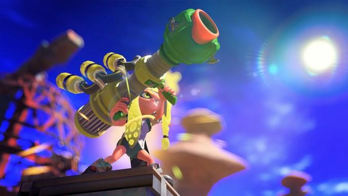 """Das Bild zeigt die Spezialwaffe Trizooka aus """"Splatoon 3""""."""