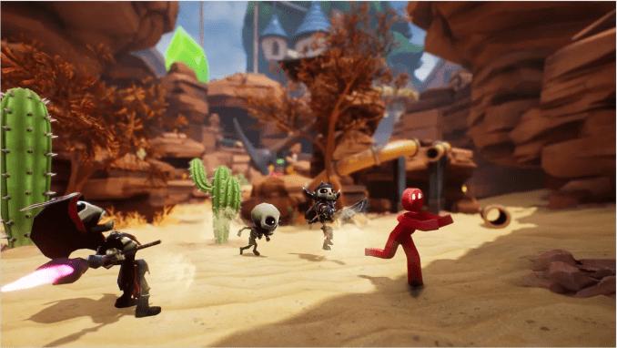 """Das Bild zeigt eine Szene aus dem Spiel """"Supraland""""."""