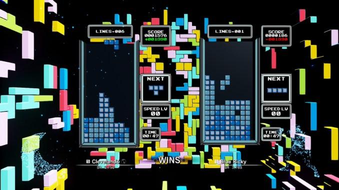 """Das Bild zeigt eine Szene aus dem Spiel """"Tetris Effect: Connected """"."""