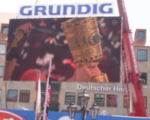 Pokalfeier am Hauptmarkt nach dem Pokalsieg 2007