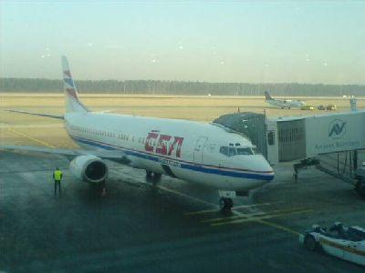 Flugzeug von CSA nach Griechenland Larissa Nürnberger Glubb