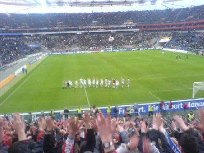 FCN Nürnberg-Laola nach 3:1-Sieg in Frankfurt 2008