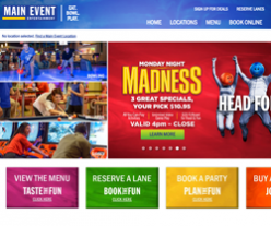 15 Off Main Event Entertainment Coupons Amp Promo Codes