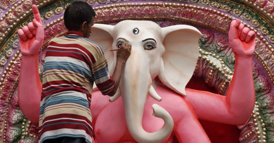 Escultura indiana (Foto: Internet)