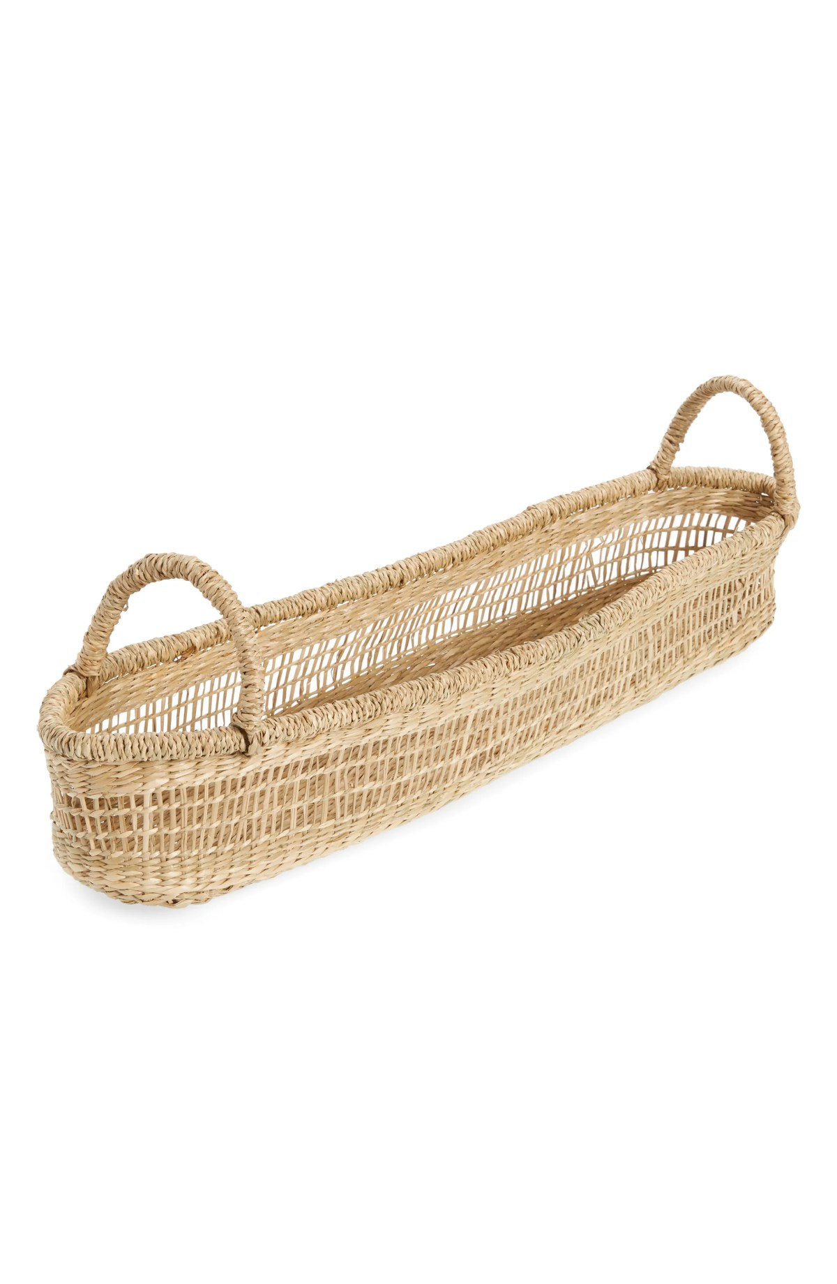 THE WHITE COMPANY Seagrass Baguette Basket, Main, color, NATURAL