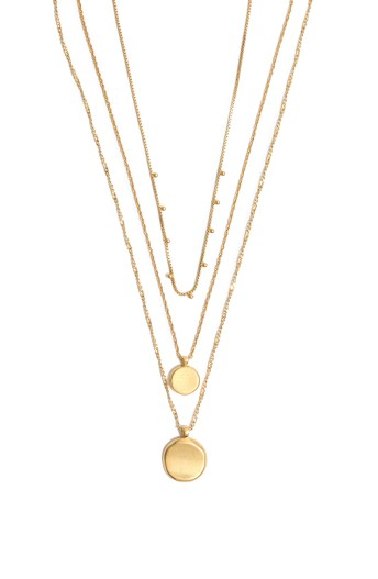 MADEWELL Coin Layered Necklace, Main, color, VINTAGE GOLD