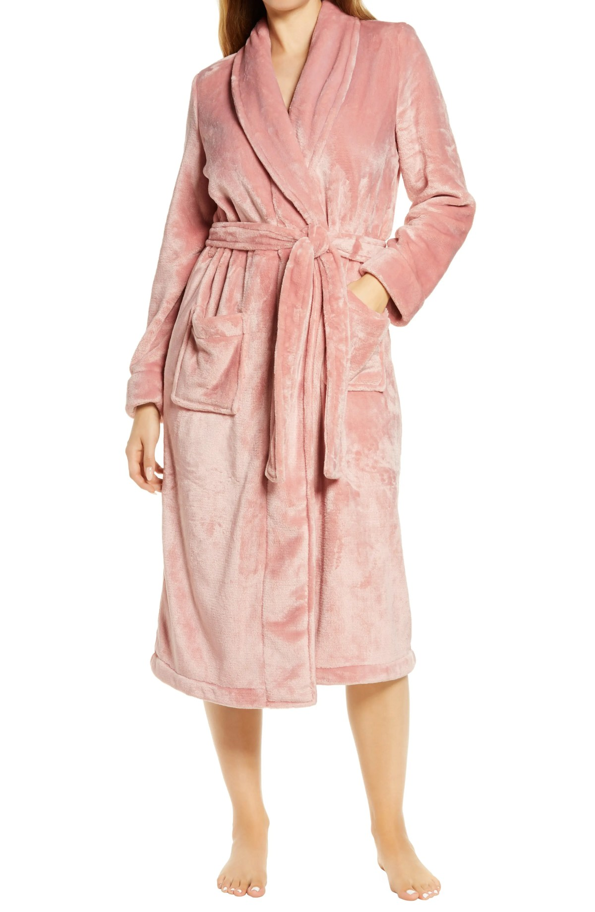 NORDSTROM Bliss Plush Robe, Main, color, PINK PUFF