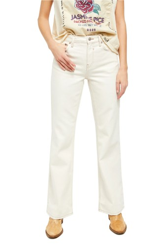 FREE PEOPLE Laurel Canyon High Waist Flare Jeans, Main, color, CREAM