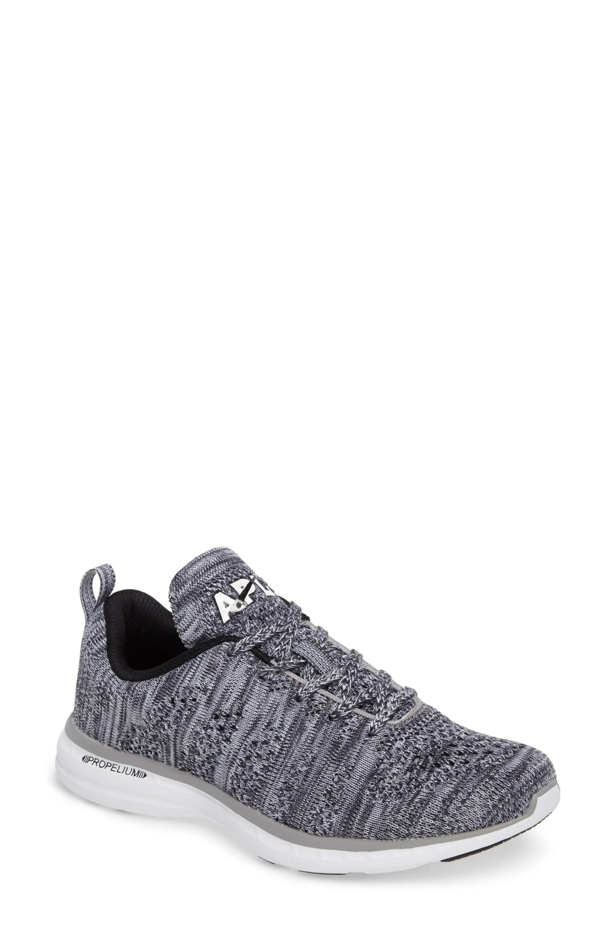 APL TechLoom Pro Knit Running Shoe, Main, color, HEATHER GREY